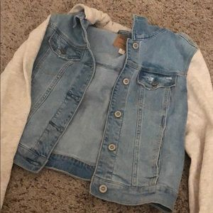 Hollister Jean Jacket with Sweater Material